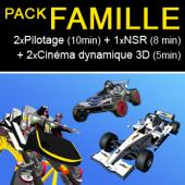 Pack Famille (2 sessions pilotage+ 1 session NSR + 2 sessions 4D)